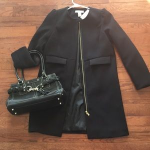 NWT H&M Long Black Lined Tunic/Jacket S 4